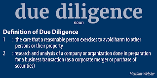 DO YOUR DUE DILIGENCE 2.3