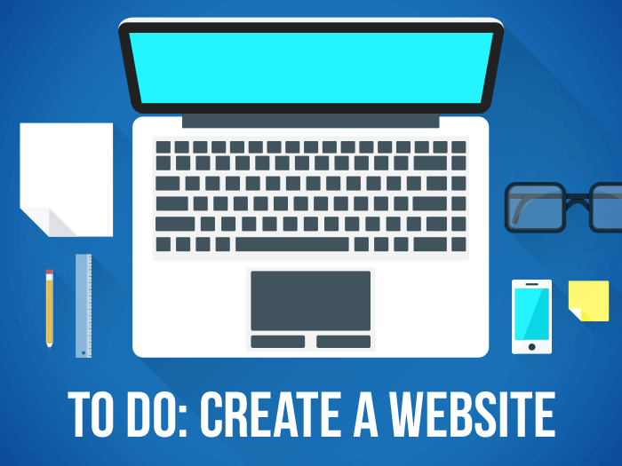 To brand online you need a website.